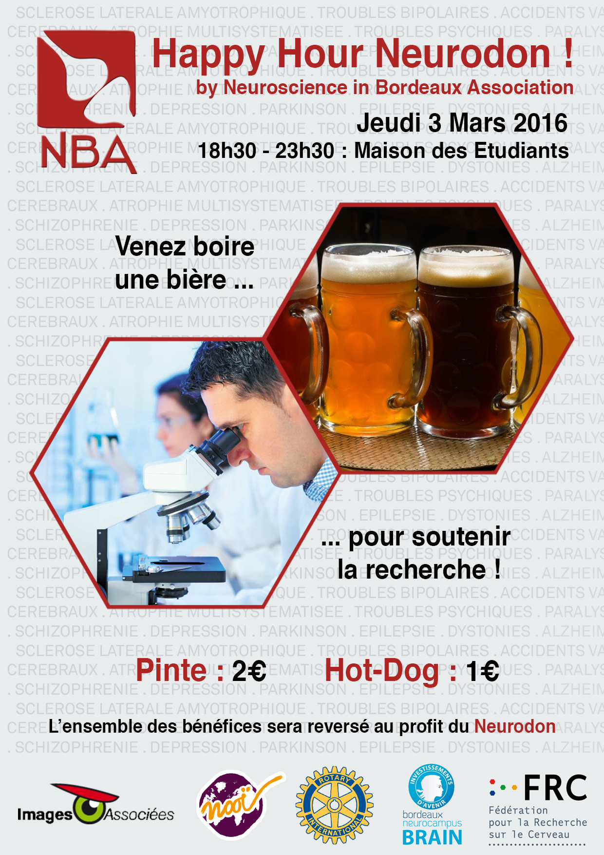 Affiche Happy Hour Neurodon 2016
